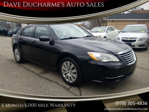 2013 Chrysler 200 for sale at Dave Ducharme's Auto Sales in Lowell MA