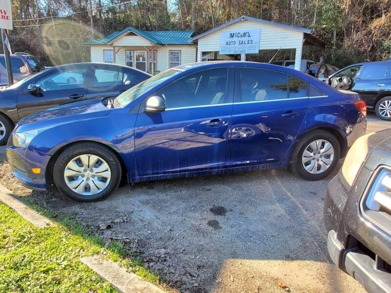 2012 Chevrolet Cruze for sale at Mc Calls Auto Sales in Brewton AL