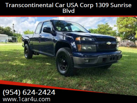 2010 Chevrolet Colorado for sale at Transcontinental Car in Fort Lauderdale FL