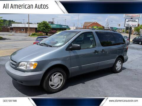 2000 Toyota Sienna for sale at All American Autos in Kingsport TN