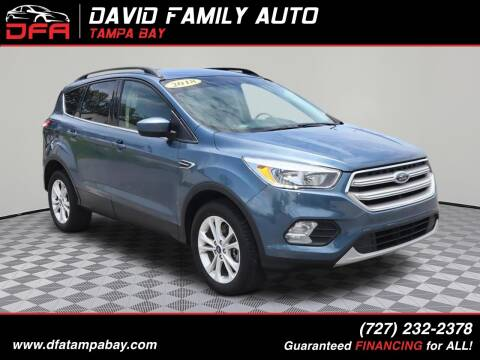 2018 Ford Escape for sale at David Family Auto, Inc. in New Port Richey FL