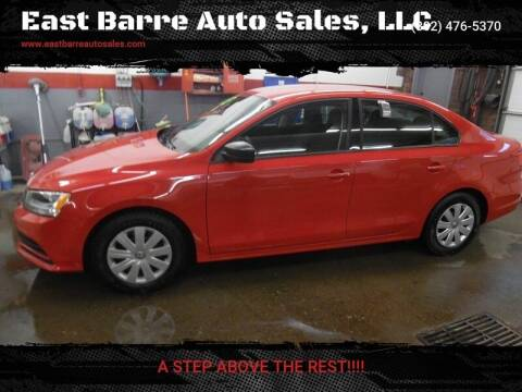 2015 Volkswagen Jetta for sale at East Barre Auto Sales, LLC in East Barre VT