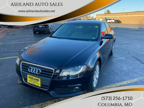 2010 Audi A4 for sale at ASHLAND AUTO SALES in Columbia MO