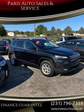 2015 Jeep Cherokee for sale at Paris Auto Sales & Service in Big Rapids MI