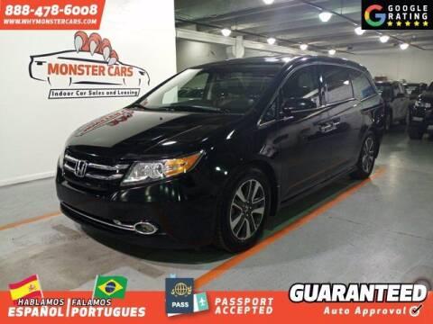 2015 Honda Odyssey for sale at Monster Cars in Pompano Beach FL