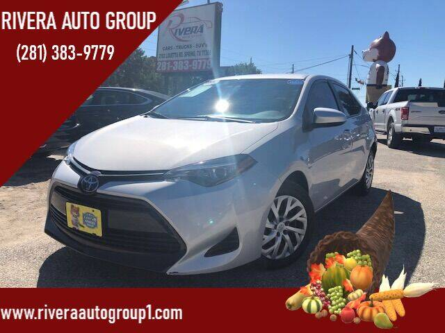 2019 Toyota Corolla for sale at Rivera Auto Group in Spring TX