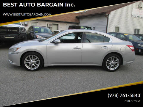 2010 Nissan Maxima for sale at BEST AUTO BARGAIN inc. in Lowell MA