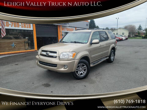 2006 Toyota Sequoia for sale at Lehigh Valley Truck n Auto LLC. in Schnecksville PA