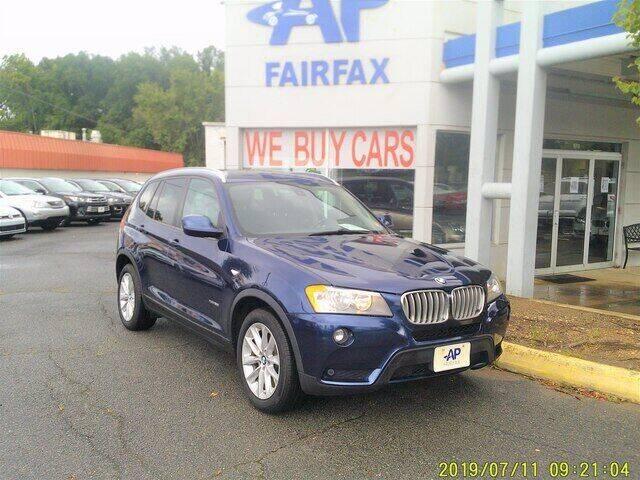 2013 BMW X3 for sale at AP Fairfax in Fairfax VA