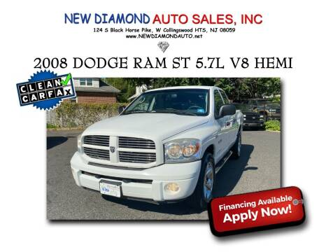 2008 Dodge Ram Pickup 1500 for sale at New Diamond Auto Sales, INC in West Collingswood Heights NJ