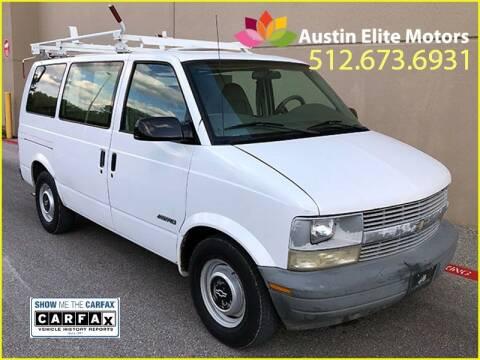 1998 Chevrolet Astro Cargo for sale at Austin Elite Motors in Austin TX