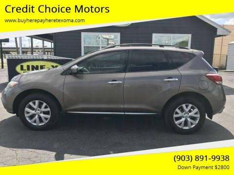 2011 Nissan Murano for sale at Credit Choice Motors in Sherman TX