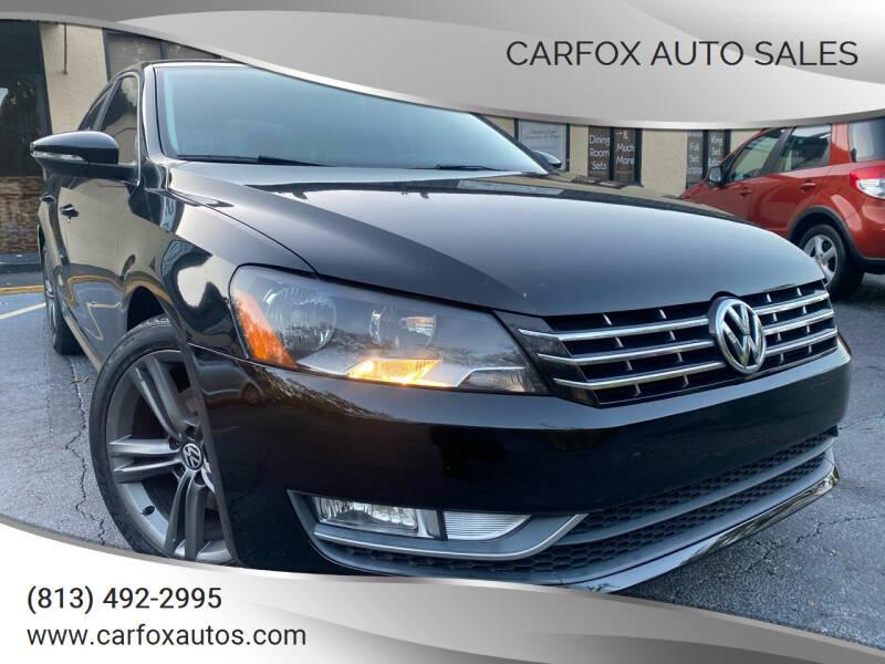 2012 Volkswagen Passat for sale at Carfox Auto Sales in Tampa FL