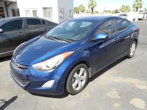 2013 Hyundai Elantra for sale at COUNTRY CLUB CARS in Mesa AZ