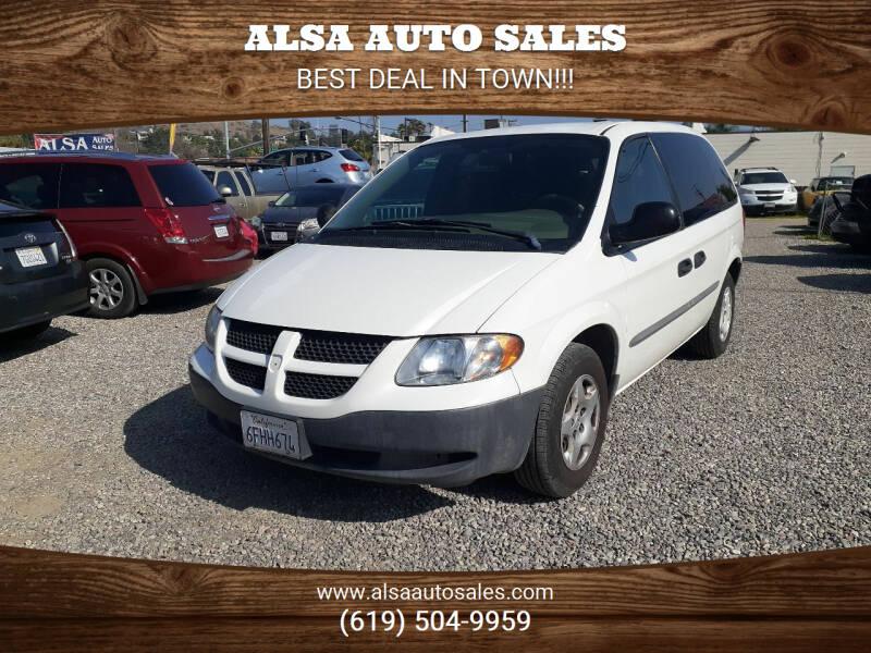 2002 Dodge Caravan for sale at ALSA Auto Sales in El Cajon CA