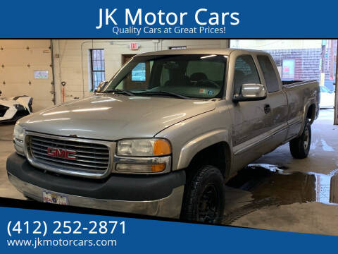 2001 GMC Sierra 2500HD for sale at JK Motor Cars in Pittsburgh PA