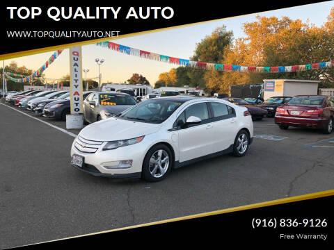 2011 Chevrolet Volt for sale at TOP QUALITY AUTO in Rancho Cordova CA