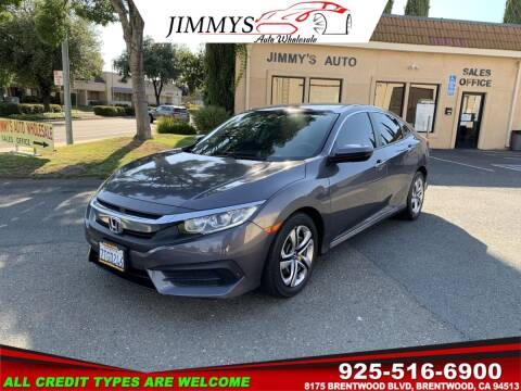 2016 Honda Civic for sale at JIMMY'S AUTO WHOLESALE in Brentwood CA