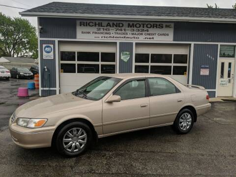 2001 Toyota Camry for sale at Richland Motors in Cleveland OH