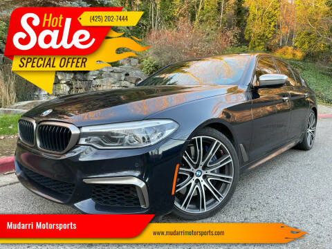 2018 BMW 5 Series for sale at Mudarri Motorsports in Kirkland WA
