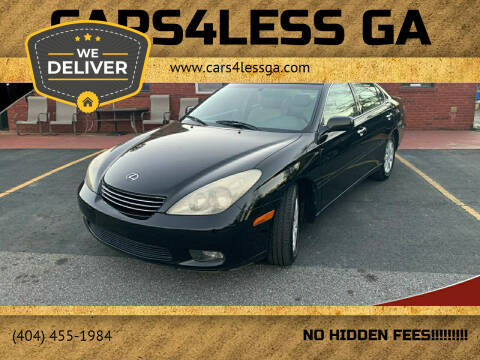 2004 Lexus ES 330 for sale at Cars4Less GA in Alpharetta GA