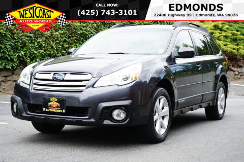 2013 Subaru Outback for sale at West Coast Auto Works in Edmonds WA