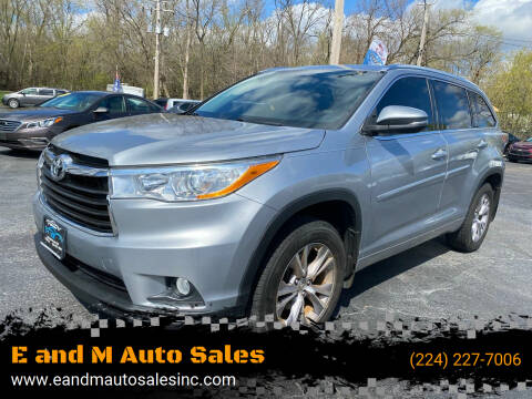 2014 Toyota Highlander for sale at E and M Auto Sales in Elgin IL