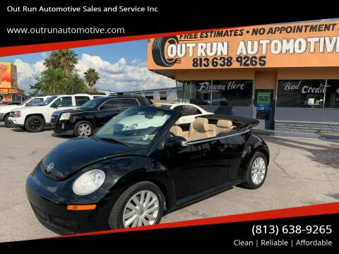 2008 Volkswagen New Beetle Convertible for sale at Out Run Automotive Sales and Service Inc in Tampa FL
