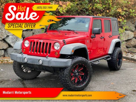 2012 Jeep Wrangler Unlimited for sale at Mudarri Motorsports in Kirkland WA