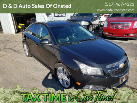 2012 Chevrolet Cruze for sale at D & D Auto Sales Of Onsted in Onsted   Brooklyn MI
