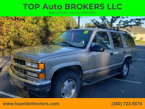 1999 Chevrolet Tahoe for sale at TOP Auto BROKERS LLC in Vancouver WA