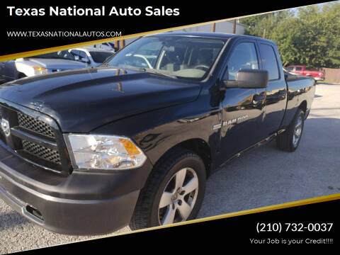 2012 RAM Ram Pickup 1500 for sale at Texas National Auto Sales in San Antonio TX
