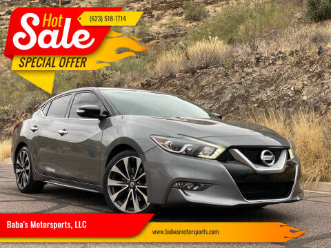 2016 Nissan Maxima for sale at Baba's Motorsports, LLC in Phoenix AZ