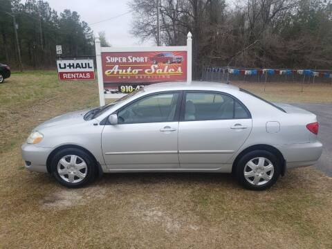 2006 Toyota Corolla for sale at Super Sport Auto Sales in Hope Mills NC
