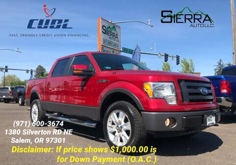 2009 Ford F-150 for sale at SIERRA AUTO LLC in Salem OR