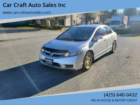 2011 Honda Civic for sale at Car Craft Auto Sales Inc in Lynnwood WA