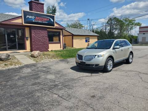 2011 Lincoln MKX for sale at Pro Motors in Fairfield OH