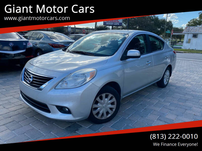 2012 Nissan Versa for sale at Giant Motor Cars in Tampa FL