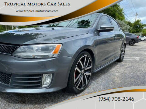 2013 Volkswagen Jetta for sale at Tropical Motors Car Sales in Deerfield Beach FL