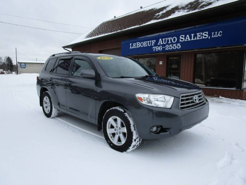 2010 Toyota Highlander for sale at LeBoeuf Auto Sales in Waterford PA