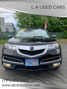 2011 Acura MDX for sale at L A Used Cars in Abington MA