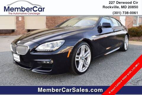 2015 BMW 6 Series for sale at MemberCar in Rockville MD