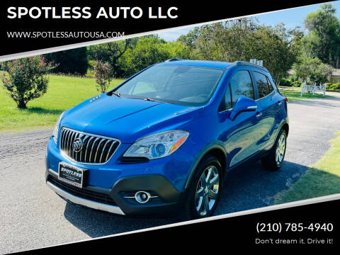 2016 Buick Encore for sale at SPOTLESS AUTO LLC in San Antonio TX