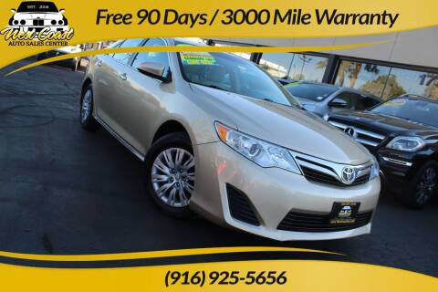 2012 Toyota Camry for sale at West Coast Auto Sales Center in Sacramento CA