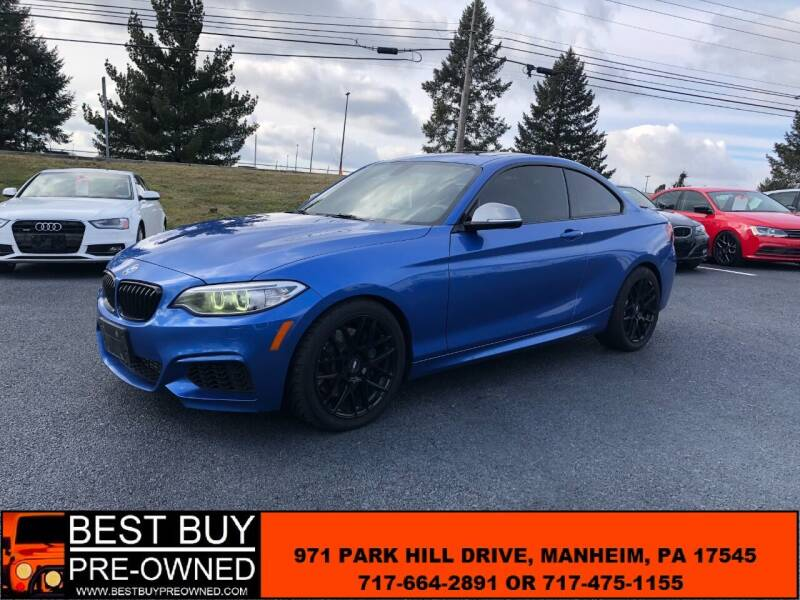 2015 BMW 2 Series for sale at Best Buy Pre-Owned in Manheim PA