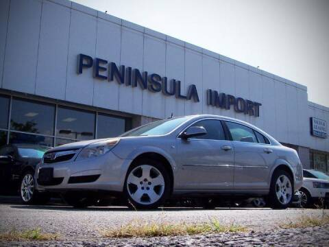 2007 Saturn Aura for sale at Peninsula Motor Vehicle Group in Oakville Ontario NY