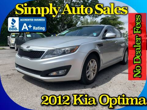 2012 Kia Optima for sale at Simply Auto Sales in Palm Beach Gardens FL