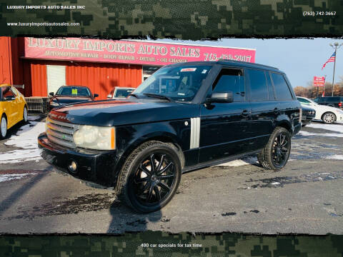 2008 Land Rover Range Rover for sale at LUXURY IMPORTS AUTO SALES INC in North Branch MN