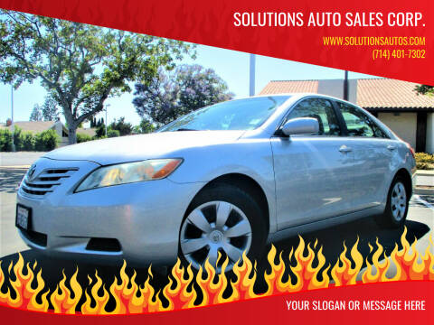 2009 Toyota Camry for sale at Solutions Auto Sales Corp. in Orange CA