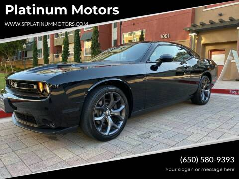 2018 Dodge Challenger for sale at Platinum Motors in San Bruno CA